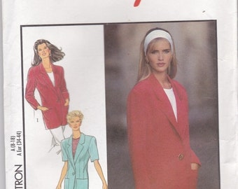 ON SALE 1990s Style Sewing Pattern No 2020  for Womens Jacket  Size 8-18  Bust 31 1/2 -40 inches, Uncut, Factory Folded