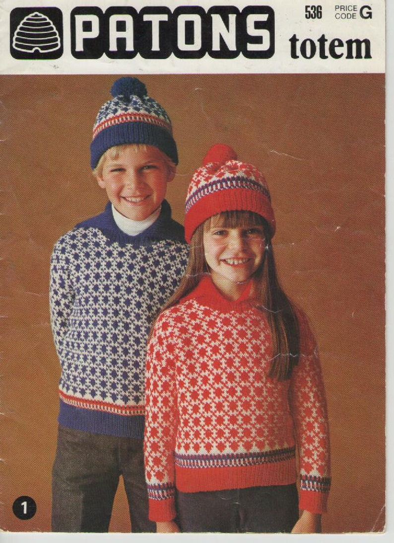 2caa927cd Patons Childrens Knitting and Crochet Book No 536 Vintage