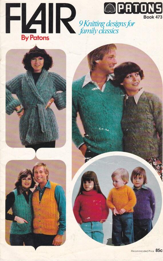 d5e331e6f Patons Knitting Pattern Family Cottage Knit Vintage