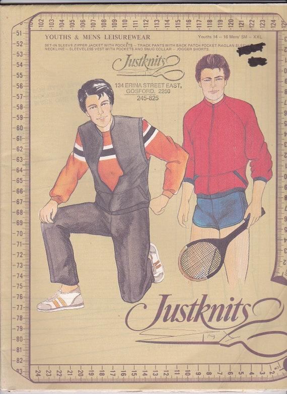 JUST ME LADIES LEISUREWEAR PANTS VEST JACKET 8-22 UNCUT JUSTKNITS PATTERN