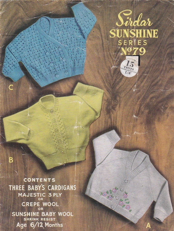 d7f42e7405f5 Sirdar Knitting Pattern No 79 for Babies Childrens