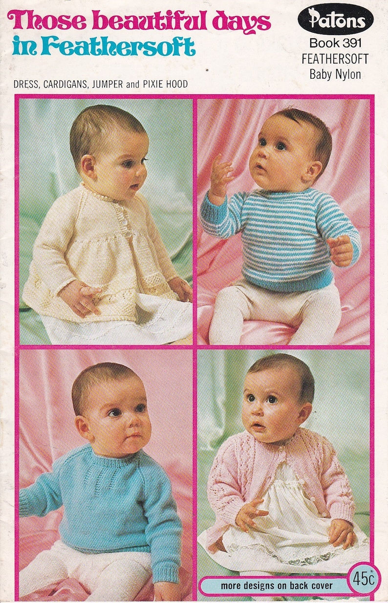 f94b6c954 Patons Feathersoft Knitting and Crochet Designs for Baby