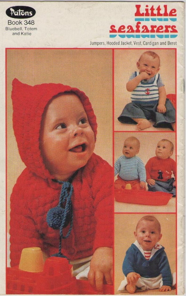 0980c1a93 ON SALE Patons Knitting Pattern No 348 for Baby Little