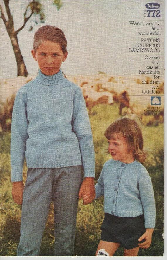 c1483173b Patons Knitting Pattern No 772 in Lambswool Classic Handknits
