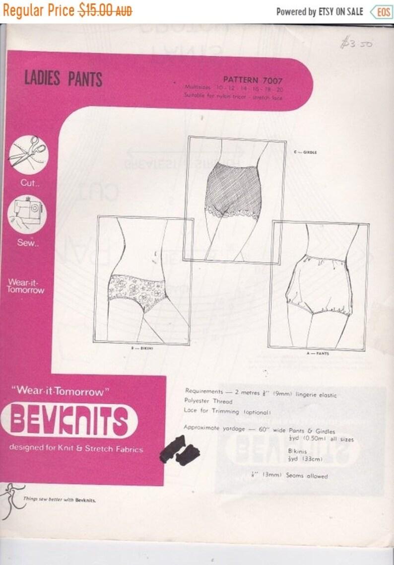 6b1864f20d688 ON SALE 1970s Sewing Pattern Bevknits 7007 Ladies Panties | Etsy