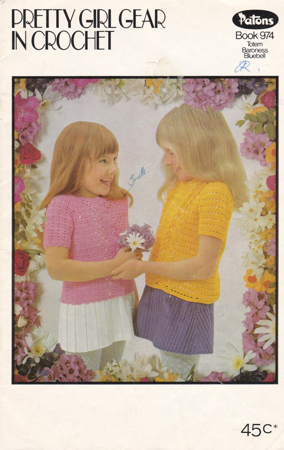 Patons Crochet Pretty Girl Gear Totem Baroness Bluebell Etsy