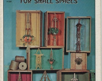 ON SALE 1970s Craft Magazine of Macrame Hangers for Small Spaces.
