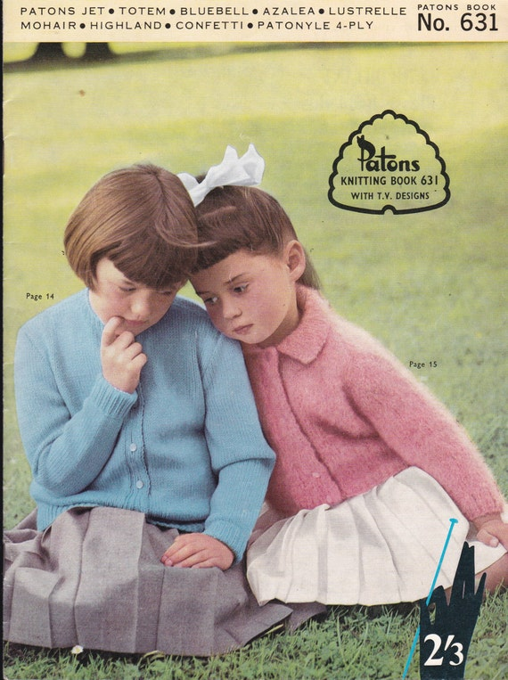Patons Knitting Pattern No 631 For Children Boys And Etsy