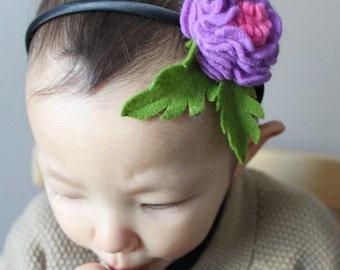 Beautiful headband for children or adult in felt /Serre-tête enfant ou adulte avec feutrine