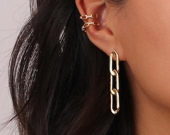 Long Dangle Earrings \u2022 Silver Coin Earrings \u2022 Oxidized Silver Earrings \u2022 Long Chain Earring \u2022 Lightweight Earrings \u2022 Boho Earrings