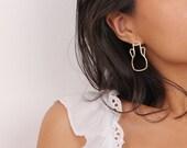 Vessel Jug Earrings, Pottery Earrings, Vase Earrings, Roman Pottery, Ancient Pottery, Wine Jug Earrings, Amphora Vase, Antique Jug Earrings