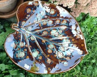 Large Garden Leaf Ceramic Art