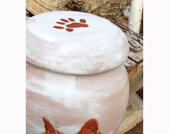 Custom Cat Paw, an UPGRADE for Custom Cat Urn - Printed on Lid  (Urn NOT included)
