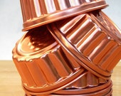 Bright Shiny Little Vintage Copper Tone Jello Molds