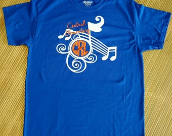 b23de66256aba Monogram band shirt   Etsy