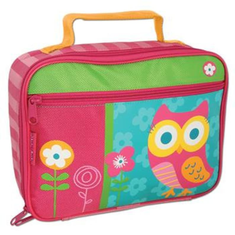 24761a3156b0 Personalized Lunch Box, Lunch Bag, Stephen Joseph Owl Lunch Box, Classic  Lunch Bag, Monogrmmaed Toddler Lunch Bag, Snack Bag, Owl Lunch Bag