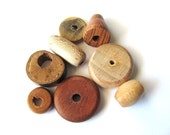 Handmade Wood Beads Mixed Lot of 8 Destash Supplies at Hendyfinds