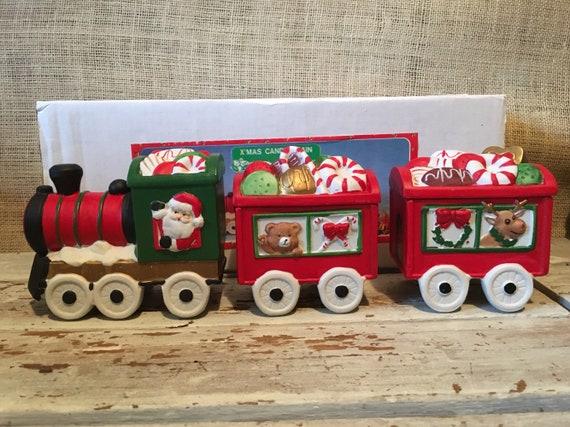 Christmas Candy Train.Christmas Around The World Ceramic Xmas Candy Train House Of Lloyd