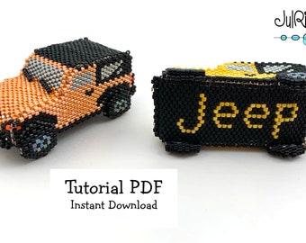 Beaded JEEP Wrangler TUTORIAL/pattern/instructions