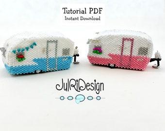 Beaded Retro Camper TUTORIAL/pattern/instructions