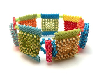 Calypso Squares Beaded Bracelet