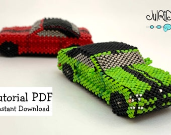 Beaded FORD Mustang Convertible TUTORIAL/pattern/instructions
