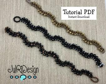 Squiggle Bracelet TUTORIAL/pattern/instructions