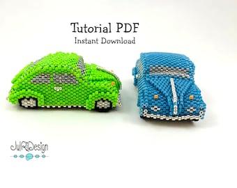 Beaded Retro VW Beetle TUTORIAL/pattern/instructions