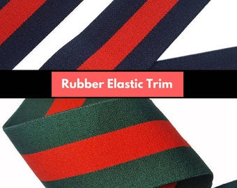 Fashion Brand Striped Rubber Elastic Band Trim, DIY Fashion Elastic Trim