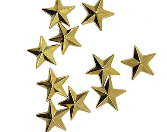 Iron On Gold Stars Nail heads Studs, DIY Gold Stars for Iron on Hot Fix