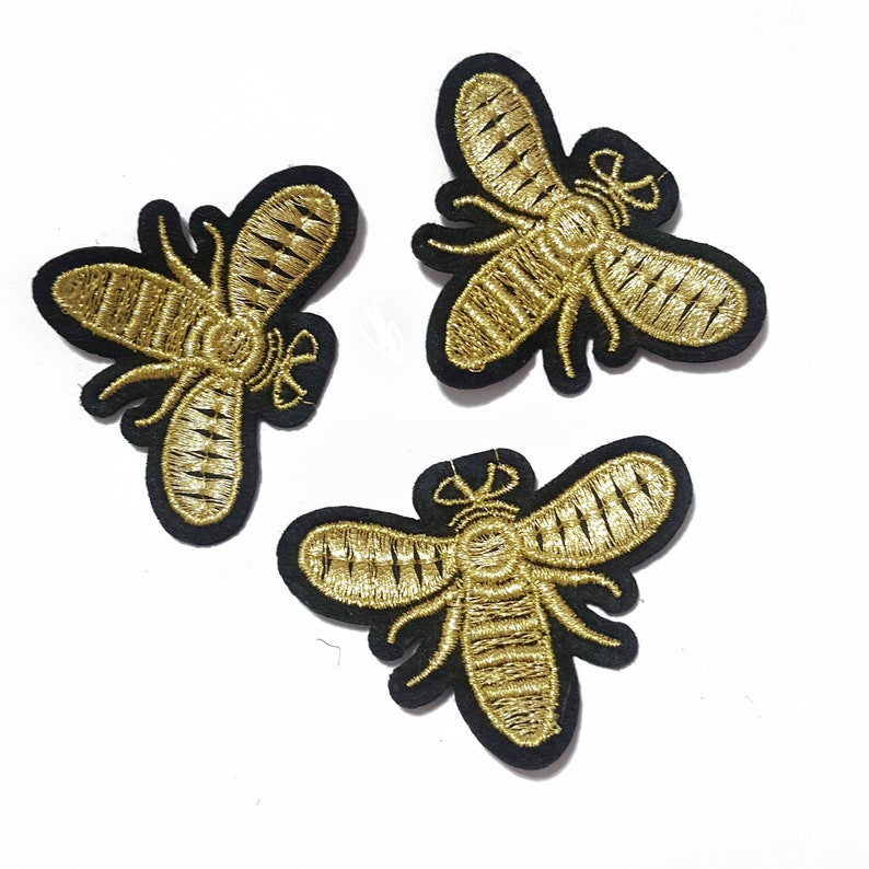 c31884d9999 Embroidered Fly Bee Patches Appliques Iron On Insects Gucci