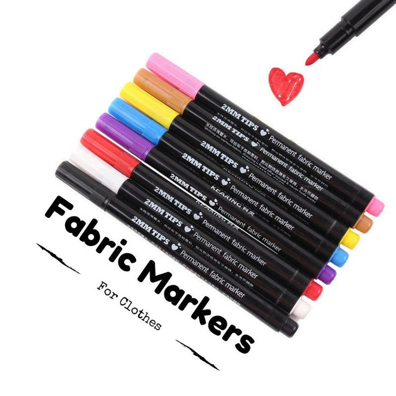 Permanent Fabric Paint Markers For T Shirt Pen For Clothes Etsy