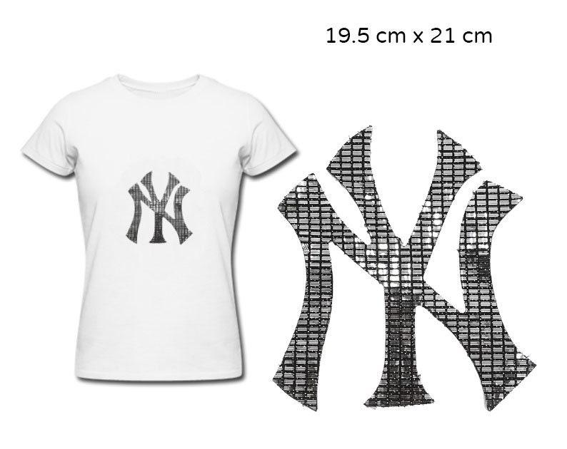 4eba3c0e06585 Iron On New York Yankees Baseball Patch, NY Yankees Customized Patch  Applique