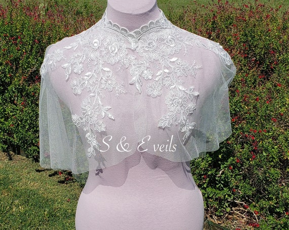 Wedding Cape with Lace