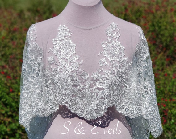 Bridal Cape with Lace