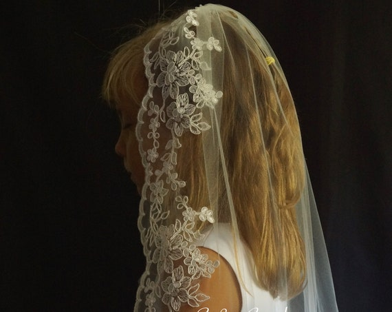 Holy Communion Veil - white color