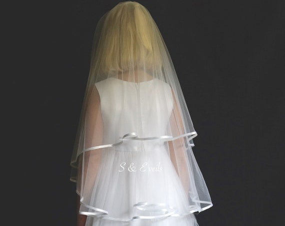 Holy Communion Veil with ribbon