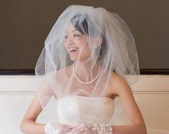 Two-Tier Bubble Wedding Veil