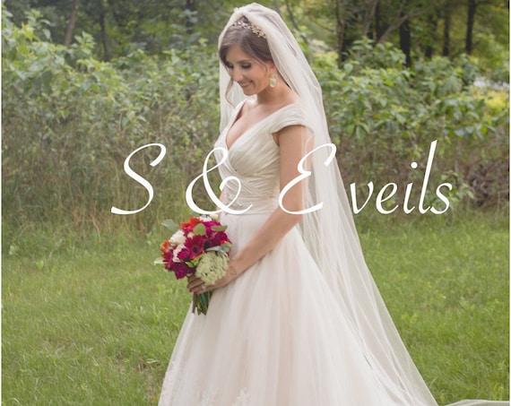 Soft Floor Bridal Veil, Wedding veil, bridal veil, wedding veil ivory, wedding veil plain, plain bridal veil
