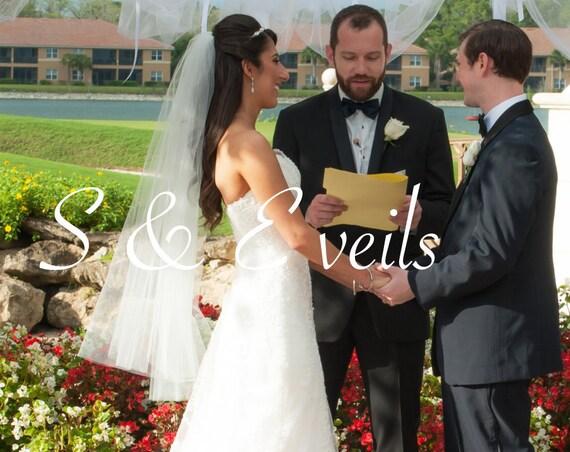 2 Layers Fingertip veil, wedding veil, bridal veil, wedding veil ivory, wedding veil plain, plain bridal veil