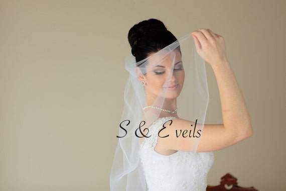 Wedding veil, bridal veil, wedding veil ivory, wedding veil plain, plain bridal veil