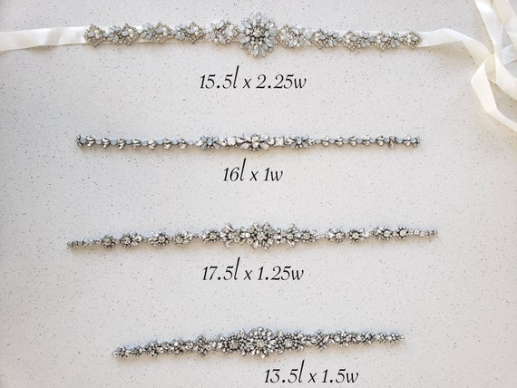 Rhinestone belts, special occasion belts