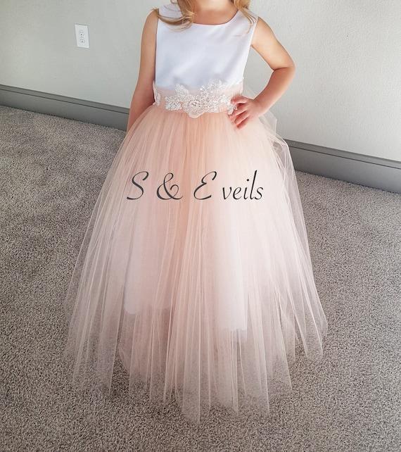 Flower girl Tutu OverSkirt | wedding, accessories