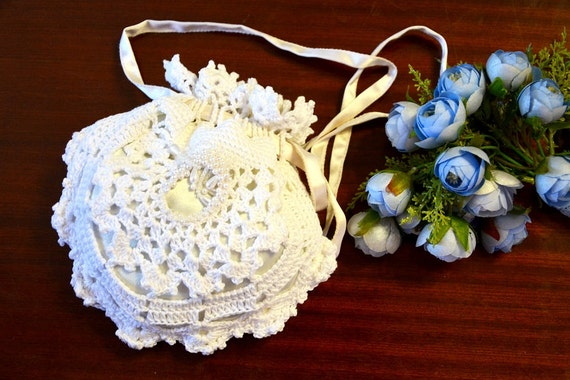 Crochet Purse for weddings, special occasion, rustic wedding