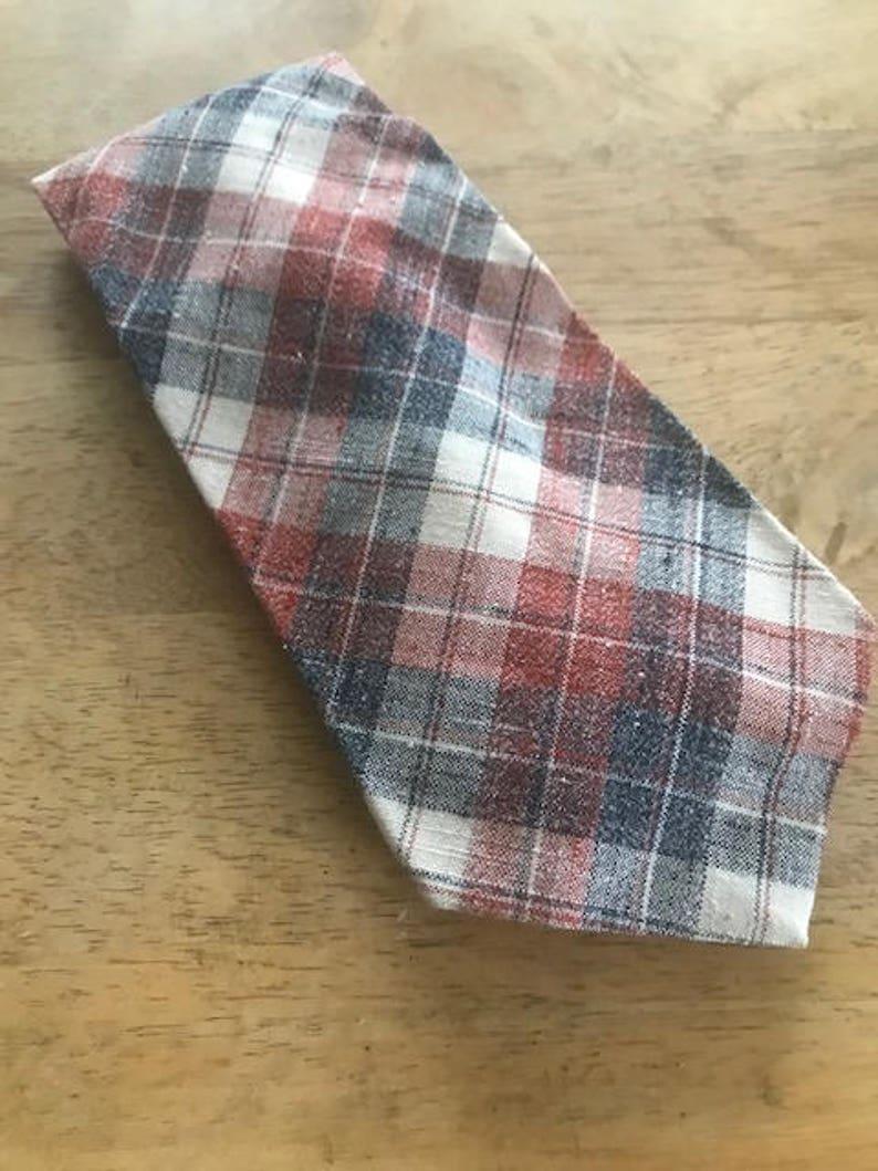 66d9e5d4fda8 Vintage Wide Tie Mens Red White and Blue Tie Del Soldato | Etsy
