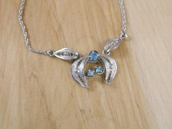 Coro Sterling Silver Necklace, Vintage Coro Neckla