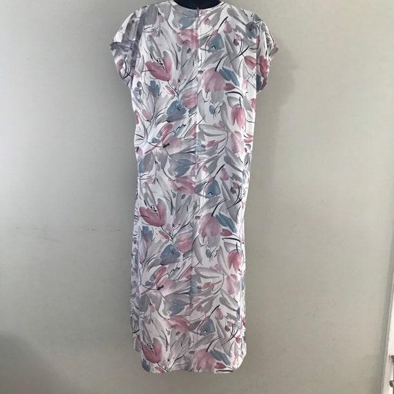 Vintage Plus Size Floral Dress, 1980s Vintage Dre… - image 5