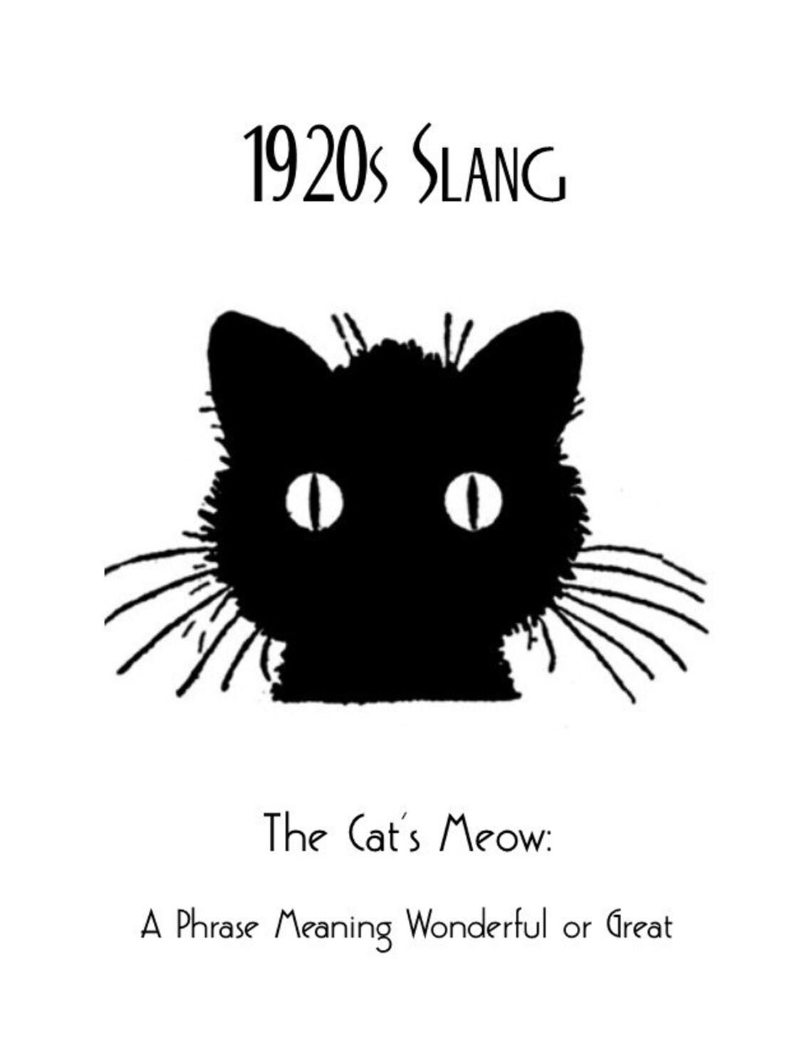 1920s art deco slang poster cats meow poster vintage black etsy Black Cat 1920 X 1080 50