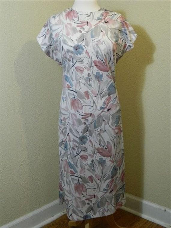 Vintage Plus Size Floral Dress, 1980s Vintage Dre… - image 6