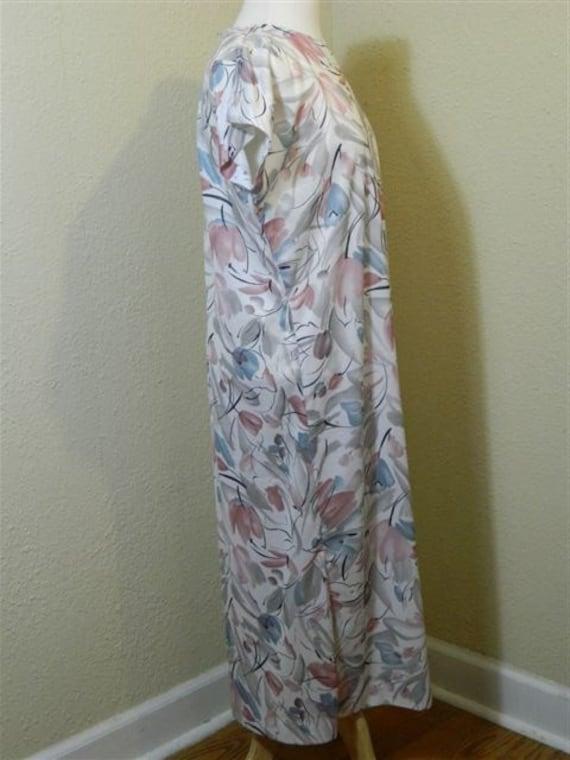 Vintage Plus Size Floral Dress, 1980s Vintage Dre… - image 8